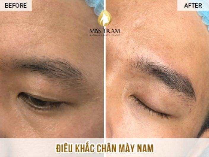 The Result of Eyebrow Sculpture Using Natural Herbal Ink For Mr. Trong