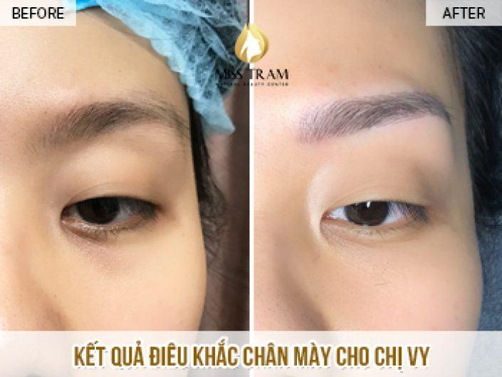 Kết Quả Điêu Khắc Chân Mày Cho Chị Vy Tại Miss Tram Natural Beauty Center