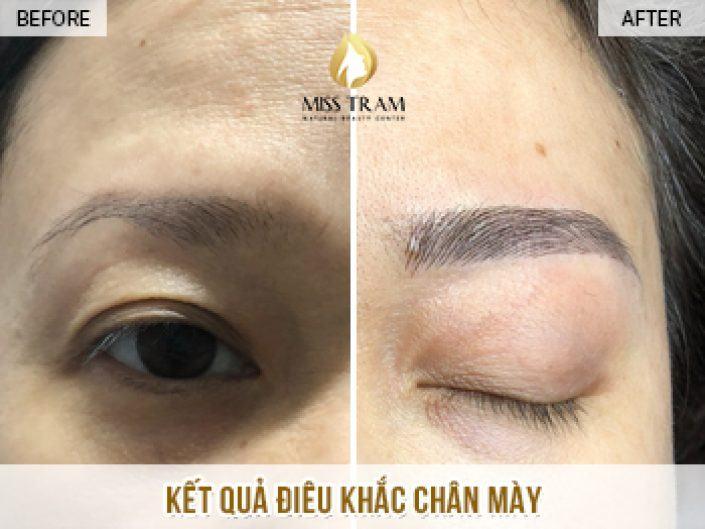 Kết Quả Điêu Khắc Mày Nữ Hoàng Cho Cô Loan Tại Miss Tram Natural Beauty Center