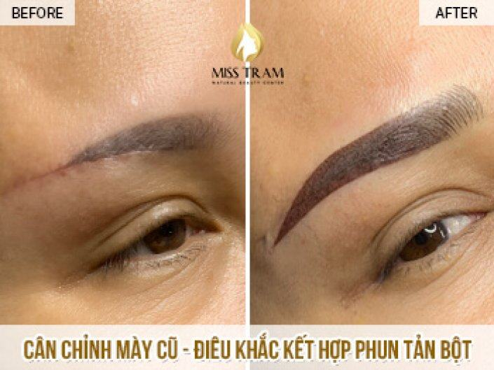 Sculpture Combined Spraying Fine Powder For Eyebrows Has Been Hanging for 1 Month