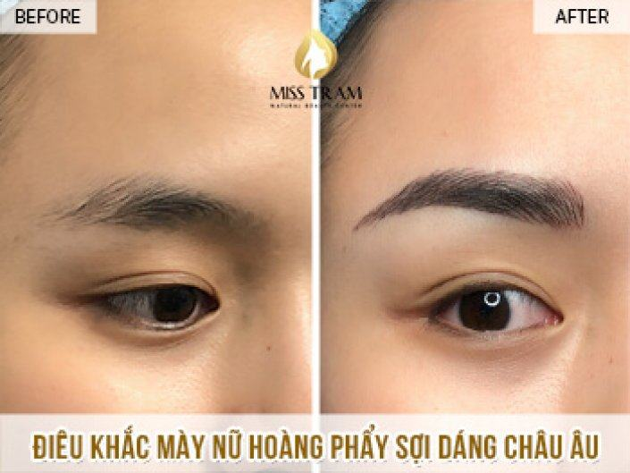 Sculpting the Queen's Eyebrows In European Eyebrows For Thao