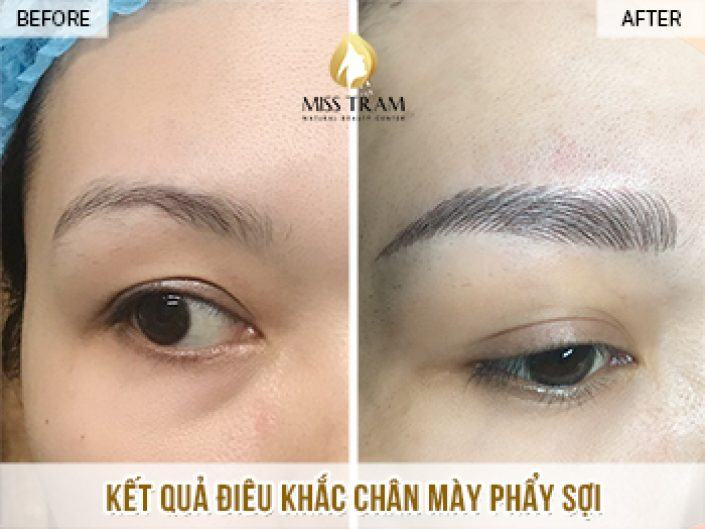 Result Of Eyebrow Sculpture For Nhung