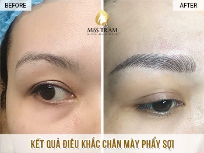 Kết Quả Điêu Khắc Chân Mày Cho Chị Nhung Tại Miss Tram Natural Beauty Center
