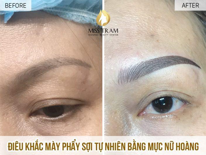 Kết Quả Điêu Khắc Chân Mày Nữ Hoàng Cho Chị Trinh Tại Miss Tram Natural Beauty Center