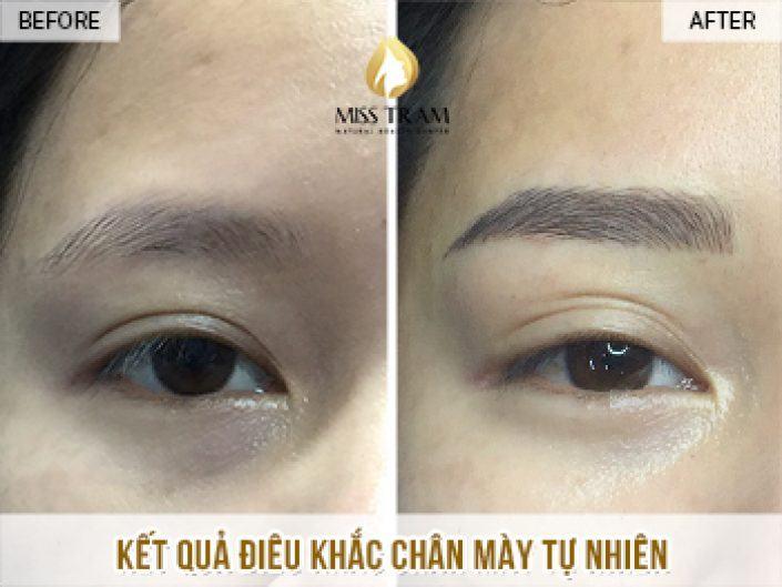 Kết Quả Điêu Khắc Chân Mày Tự Nhiên Cho Chị Trang Tại Miss Tram Natural Beauty Center
