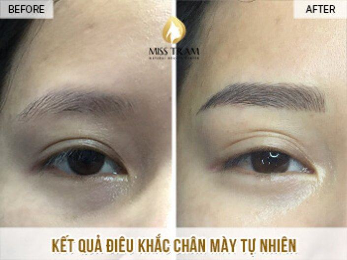 Result Of Natural Eyebrow Sculpture For Sister Trang