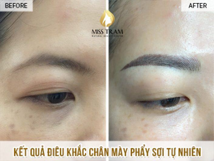 Sculpting Eyebrows with Natural Fibers For Ms. Van