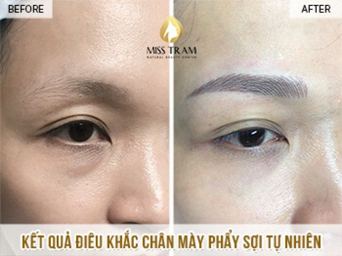 Eyebrow Sculpting Result For Ms. Ngan