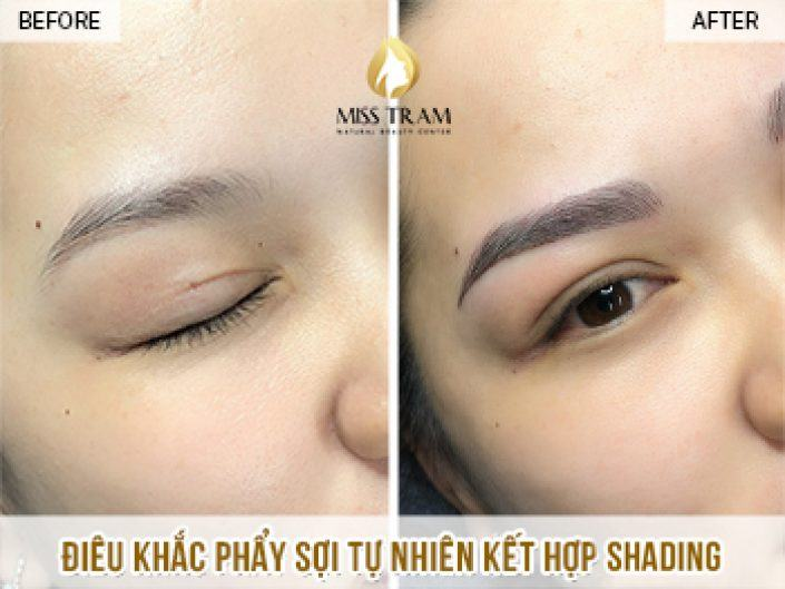 Result Of Scraping Natural Fiber Combining Shading For Dinh Dinh's Eyebrows