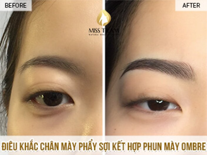 The Results of Eyebrow Sculpture and Treatment For Ms. Quynh Anh