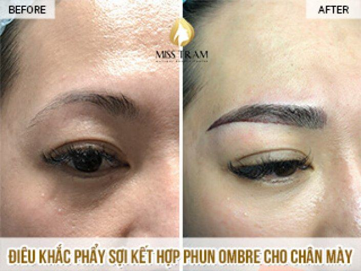 Sculpting Natural Fiber Comb With Spraying Ombre Tail Eyebrow Sister Lan
