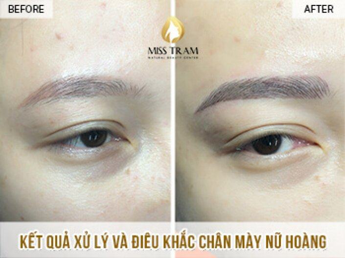 Handling and Sculpting Queen Eyebrows For Ms. Ngoc Thuyen