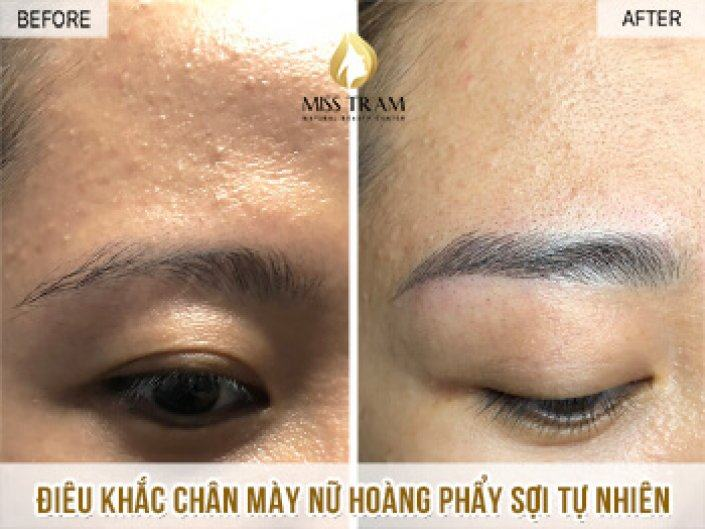 Van's Results After Sculpting Her Eyebrows Queen