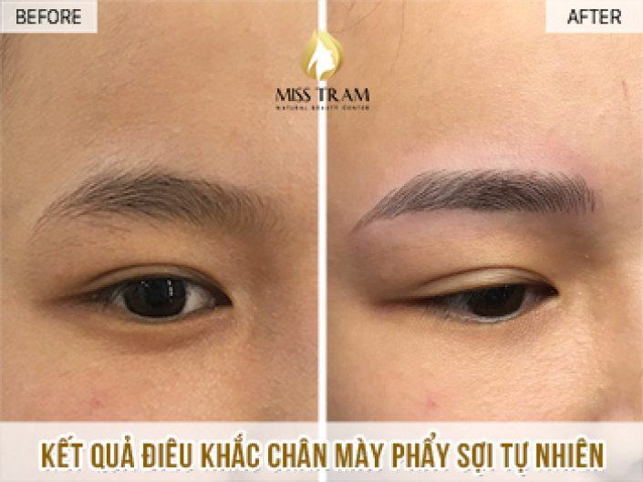 Sculpting Eyebrows With Natural Fibers For Ms. Tham