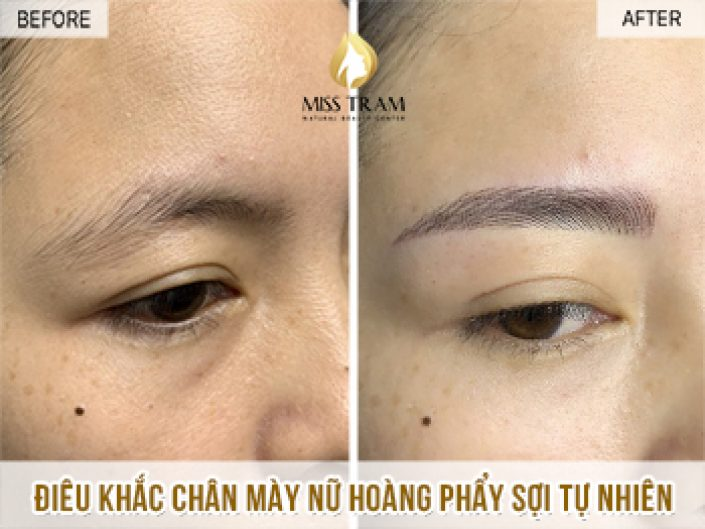 Sculpting Super Natural Queen's Eyebrows For Ms. Lan