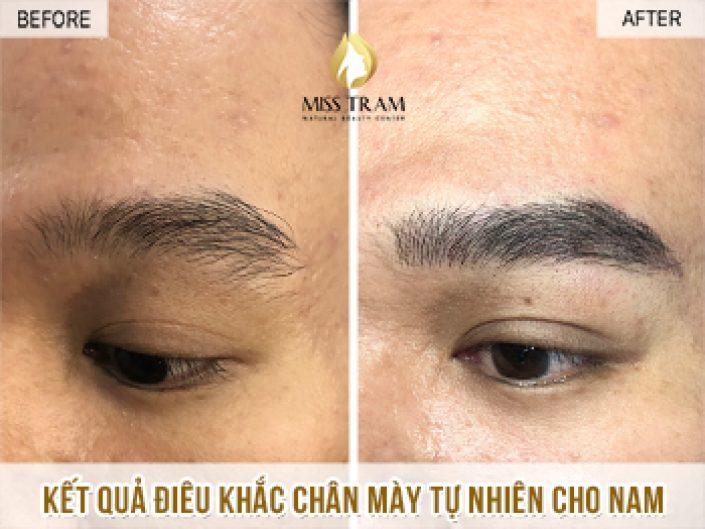 Điêu Khắc Chân Mày Nam Tự Nhiên Cho Anh Sơn Huỳnh