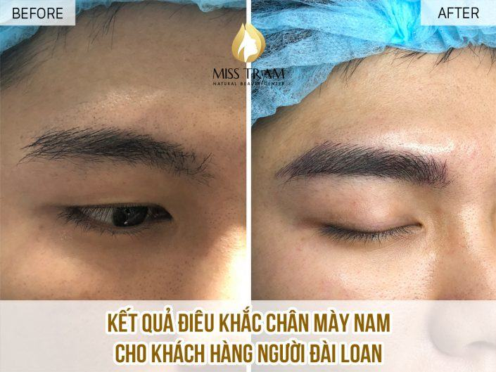 Results Customer Male - Taiwanese Sculpted Eyebrows