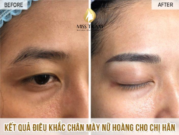 Complete the process of sculpting Queen's Eyebrow For Ms. Han