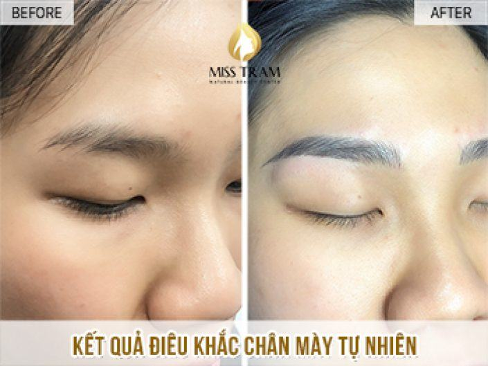Sculpting Eyebrows With Natural Fibers For Ms. Dinh