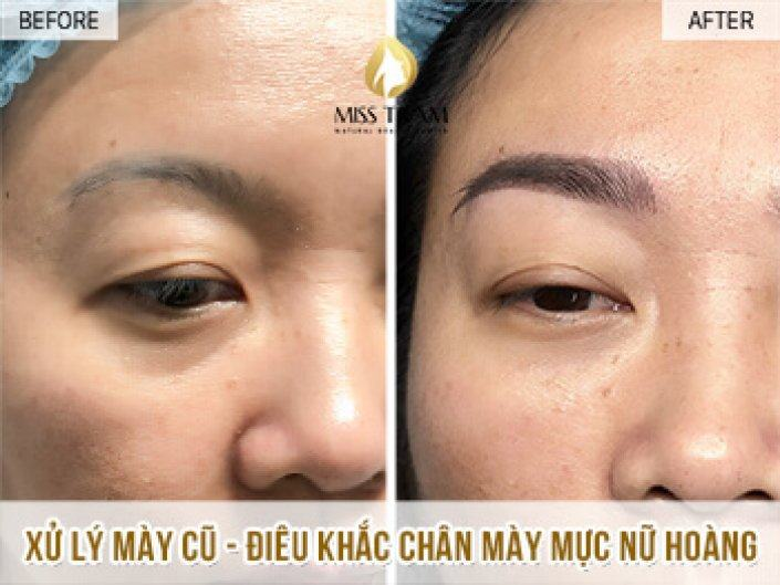 Handling Old Eyebrows - Sculpting Queen Brow For Ms. Huong