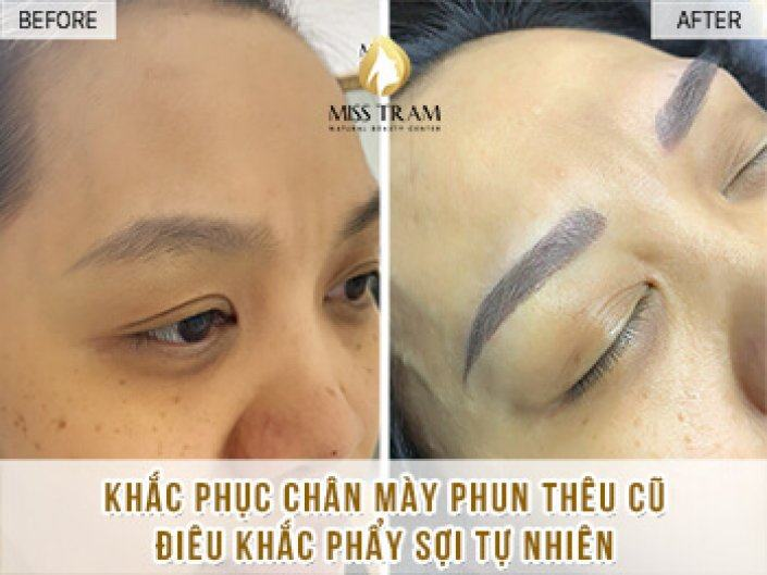 Remedy Eyebrow Spraying Old Embroidery Sculpting New Eyebrow Sister Khanh