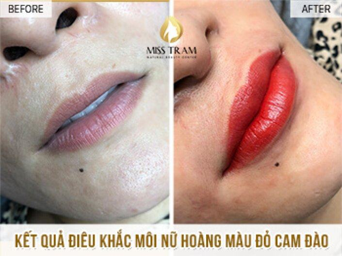 Result Of Orange Red Lip Sculpture For Thao Thao