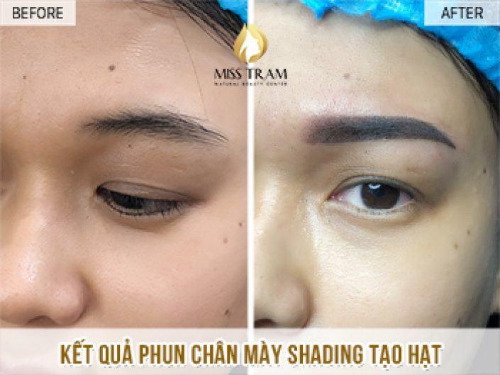 Phun Chân Mày Magic Shading Tạo Hạt Cho Chị Thư