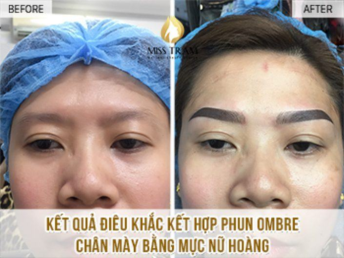 Perform Sculpture Combine Ombre Spray For Eyebrow For Ms. Tran