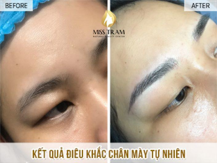Result Of Naturally Beautiful Eyebrow Sculpture For Trinh