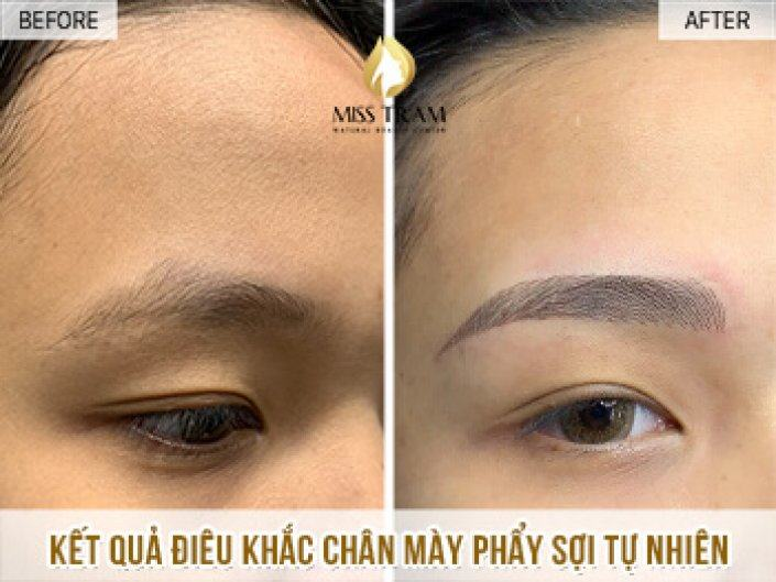 Performing Sculpted Eyebrow Scraping Natural Fiber For Ms. Hieu