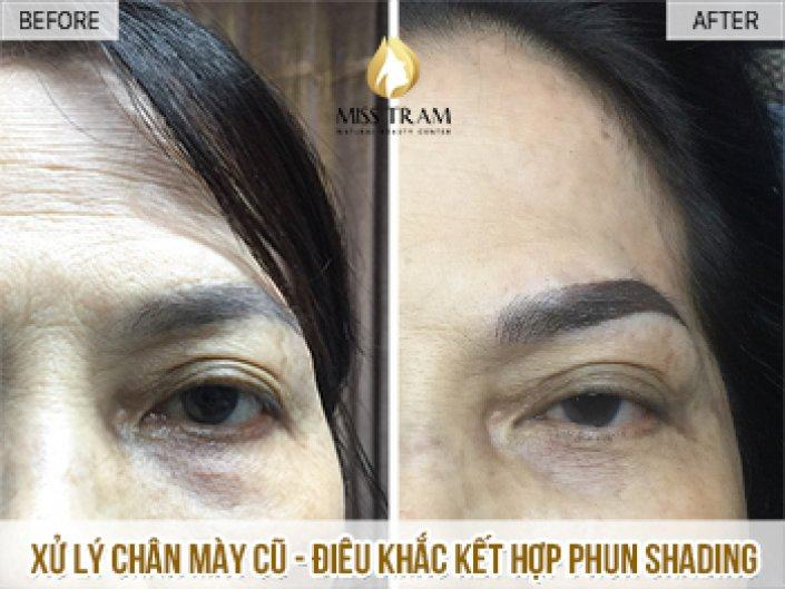 Handling Old Eyebrows - Sculpture Combined Shading Spray For Ms. Thanh