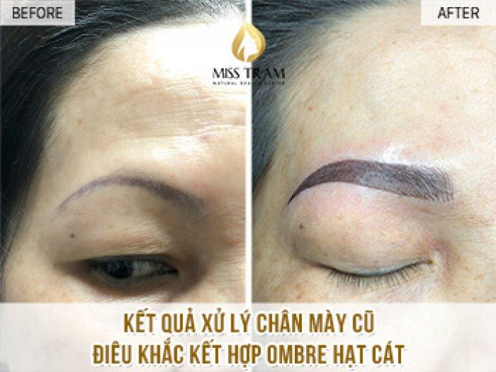 Handling Old Eyebrows - Sculpture Combination Ombre Sand Seeds For Ms. Uyen