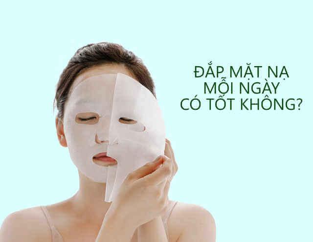 đắp mặt nạ quá nhiều khiến da nhanh bị lão hóa