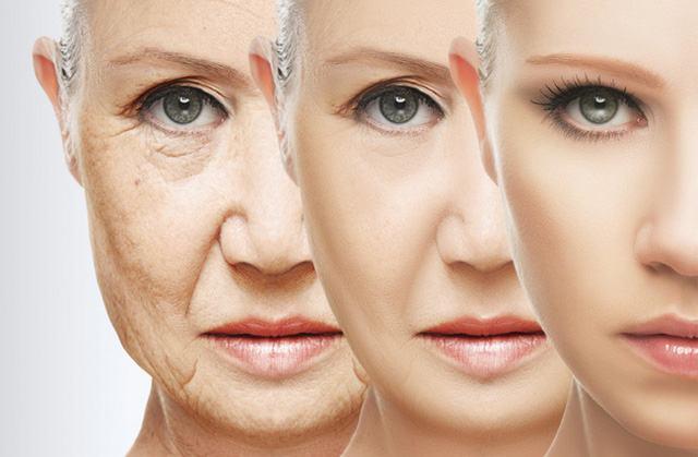 Làn da bị suy yếu do quá trình lão hóa tự nhiên