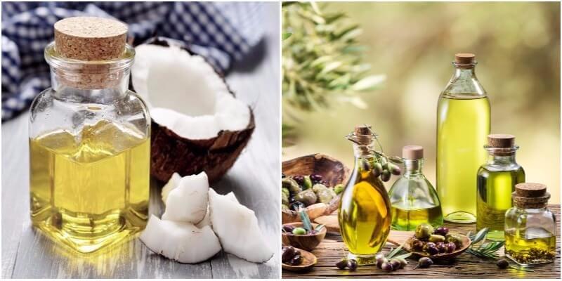 dầu dừa và dầu oliu là cách xóa nhăn hiệu quả được yêu thích