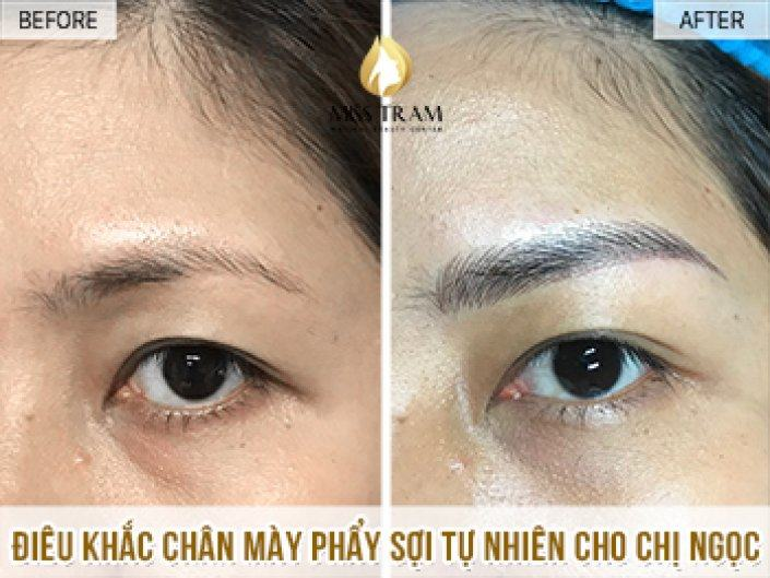 Ms Ngoc Performs Sculptures For Eyebrows