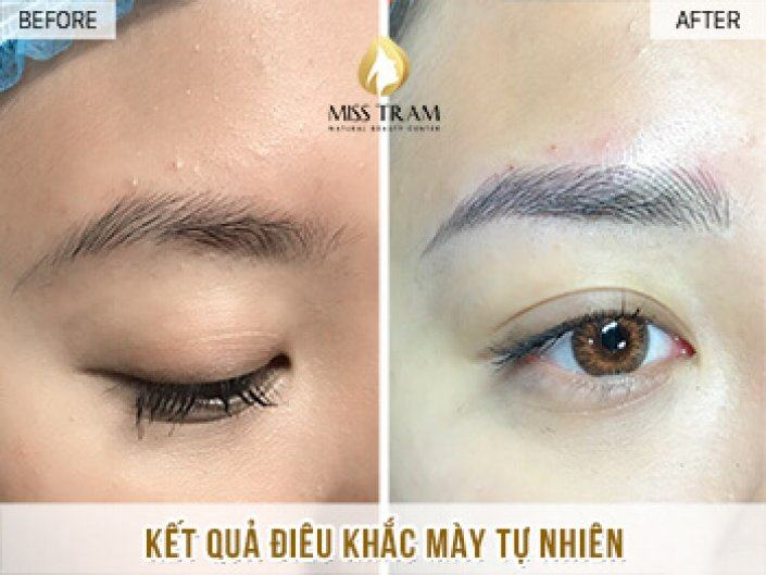 Result Of Eyebrow Sculpture For Sister Nhi