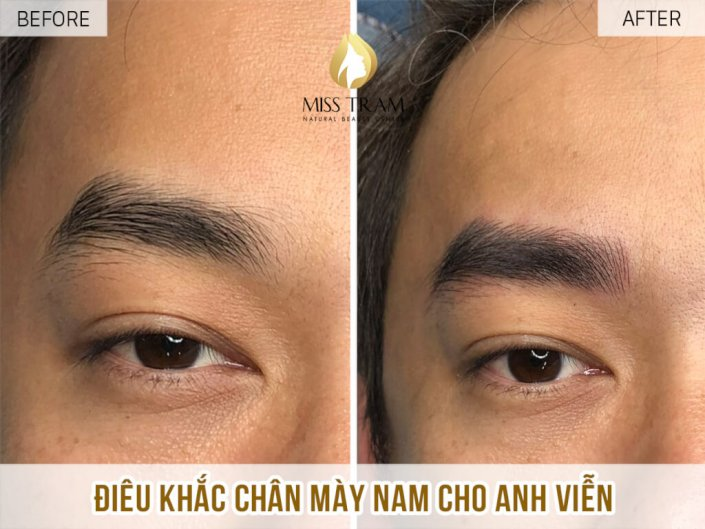 Sculpting male eyebrows for him Vien