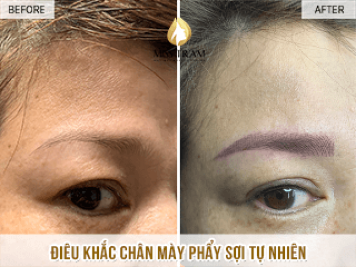 Sculpting natural eyebrows for Ms. Nhung