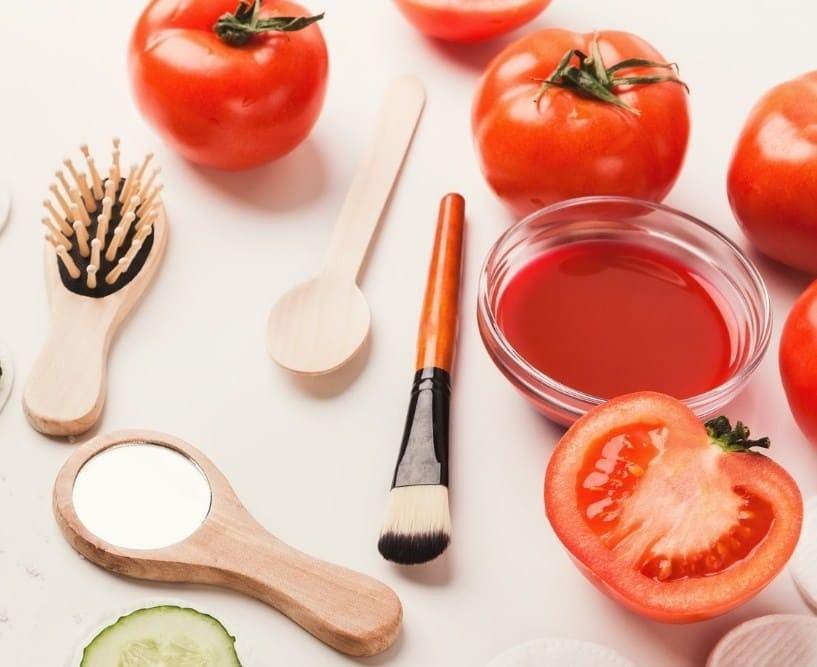 Cà chua trị mụn