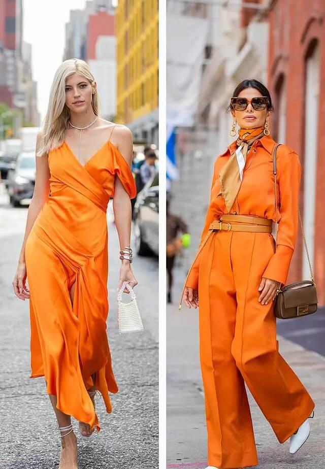 màu cam gam màu sẽ thông trị làng thời trang 2020