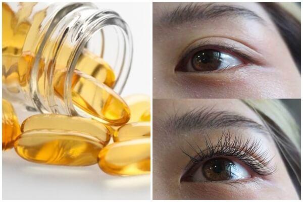 Dưỡng mi bằng vitamin E