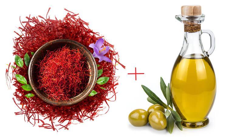 Mặt nạ Saffron, dầu oliu, sữa tươi