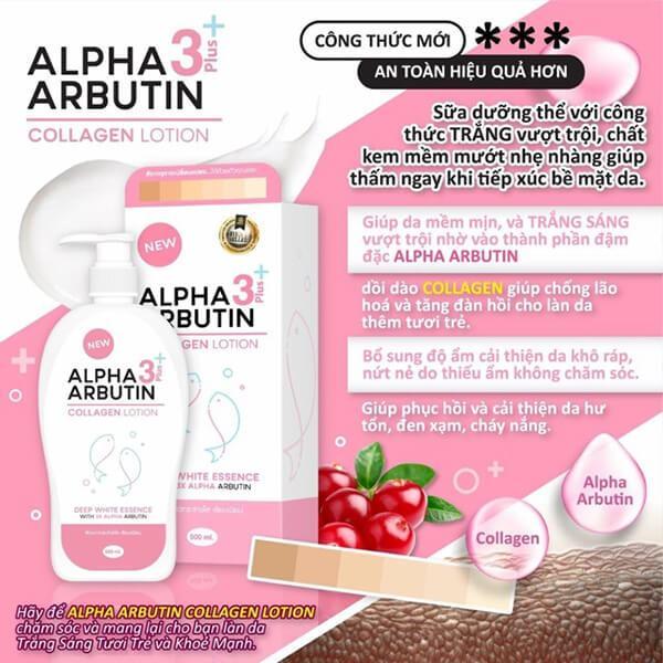 Alpha Arbutin có trong các loại sữa dưỡng thể