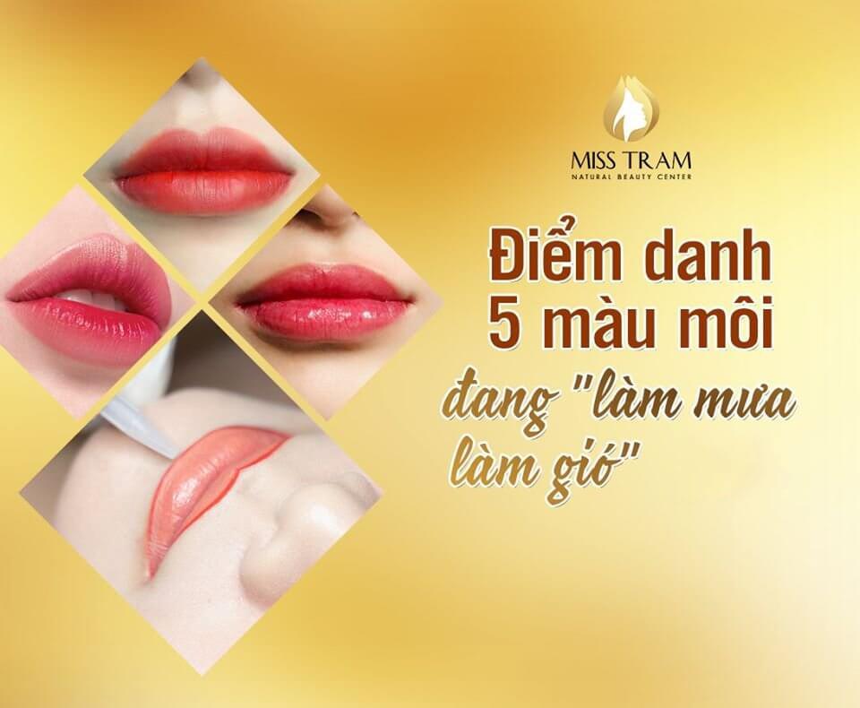 màu son môi được yêu thích nhất