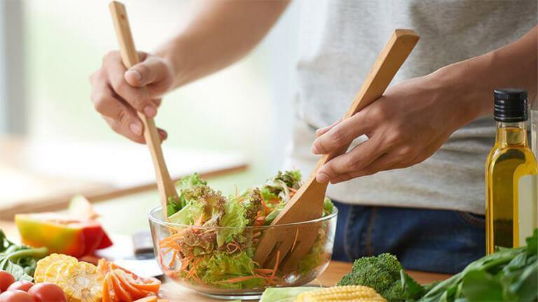 có chế độ ăn uống lành mạnh