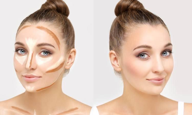 Cách giúp gương mặt trông thon gọn với Bronzer