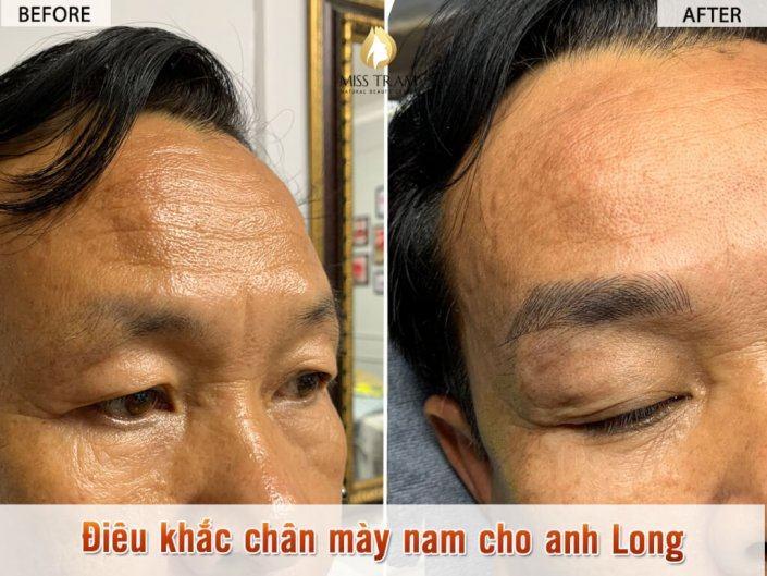 Kết Quả Điêu Khắc Chân Mày Nam Cho Anh Long