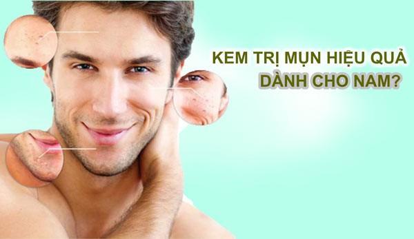Sử dụng kem trị mụn phù hợp với từng loại da nam giới