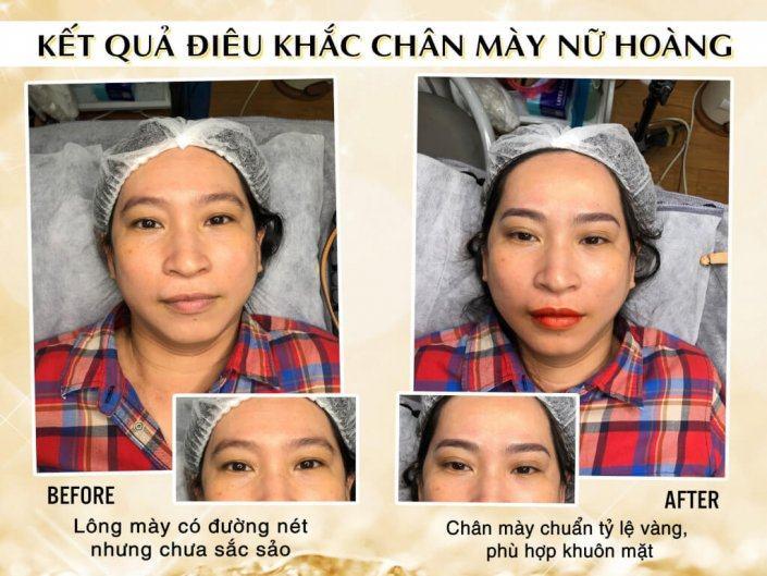 Ảnh Kết Quả Điêu Khắc Chân Mày Nữ Hoàng Cho Chị Dung